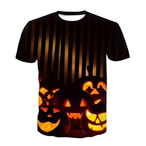 WLZQ Camiseta Estampada En 3D con Estampado De Calavera De Halloween Camiseta De Manga Corta De Anime para Hombres Y Mujeres