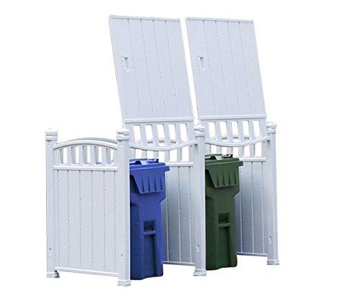 RubbishWrap Outdoor Garbage Carts Storage - Garbage Storage Shed