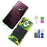 Galaxy S9 Compatible Back Glass Cover Back Door Waterproof Assembly Replacement Pre-Installed Camera Lens and Frame for Samsung Galaxy S9 OEM - All Models G960 All Carriers with Tools (Lilac Purple)