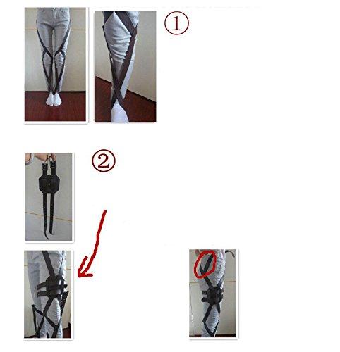 『進撃の巨人 全身 ベルトセット フリーサイズ コスプレ衣装 ベルト類 調査兵団 男女兼用 sdd009』の2枚目の画像