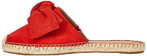 find. Bow Mule Leather Damen Espadrille, Rot Red), 39 EU