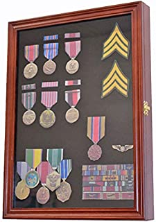 Best Display Case Wall Frame Cabinet for Military Medals, Pins, Patches, Insignia, Ribbons, Brooches Review