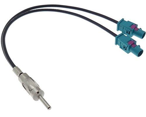 ACV electronic adaptateur d'antenne prise double 2 x adaptateur antenne fakra mâle dIN-splitter répartiteur