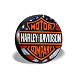 Funda de Llanta de Repuesto Funda de neumatico Spare Wheel Tire Cover Harley Davidson Spare Tire Cover para Auto Coche Vehiculos,15 Pulgadas