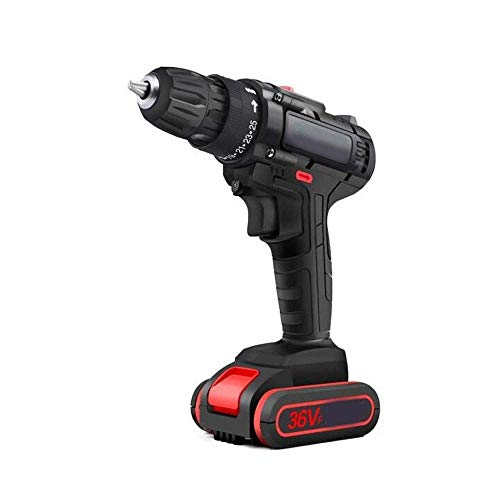 JF-XUAN Cordless Electric Drill Cordless Drill, 36Vf Cordless Drill, Electric Screwdriver, Multifunctional Household Drill, Power Tool Box Set (Size : 36V)