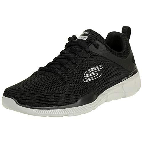 Skechers Herren Equalizer 3.0-52927 Sneaker, schwarz/grau, 44 EU