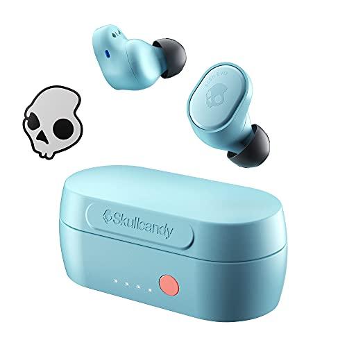 【スカルキャンディー公式ストア】 完全 ワイヤレス イヤホン Tile 機能搭載 SESH EVO 【Bluetooth 5.0対応 / 最大24時間再生可能 / IP55防水性能 / 専用アプリ対応 / 3Qプリセットイコライザー / Tile機能搭載/通話/選曲/音量コントロール/オリジナルステッカー付き】 S2TVW-N743-E (BLEACHED BLUE)