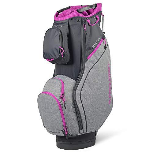 Sun Mountain 2021 Women's Sierra Golf Cart Bag (Graphite-Charcoal-Fuschia)