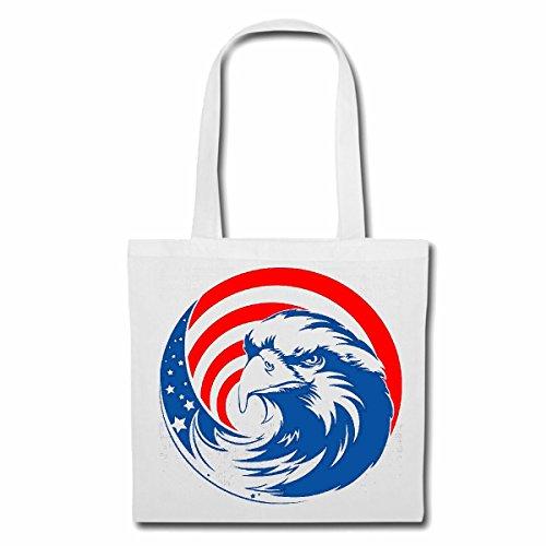 sac à bandoulière EAGLE AMERICA USA LIFESTYLE FASHION STREETWEAR HIPHOP SALSA LEGENDARY Sac Turnbeutel scolaire en blanc