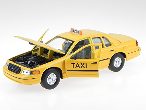Ford Crown Victoria New York Taxi Modellauto 22082 Welly 1:24