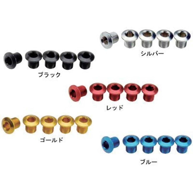 エチケット役職群れGIZA PRODUCTS(ギザプロダクツ) チェーンリング フィキシングボルト レッド 9mm 5個 セット YCK00304
