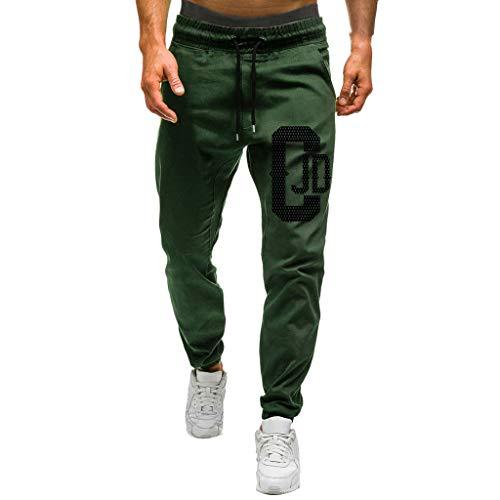 Armfre Herren Trainingshose 3XL Digit Print Gym Jogger Hose lose Kordelzug Stretch Elastische Sweatpants Solide Atmungsaktiv Hip Hop Tapered Casual Workout Twill Hose, Armee-grün, X-Large