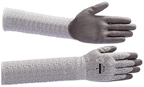 BD 502 ノンカットグリップロング (10双) LLサイズ 全長約33cm 長袖 耐切創手首保護手袋 危険な作業から手と手首を保護 ガラスや刃物などの切裂きに強いPUコート手袋 富士グローブ