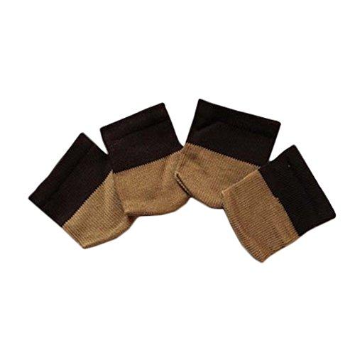 Set von 4 Knitting Tabelle / Sofa Leg Pad M?bel Sock Bodenunterlage Coffee Schwa