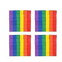 EXCEART 100個の木製キューブ木製カットアウトキューブ木製正方形ブロック子供用教育玩具(1Cm、2Cmスタイル、各50個)
