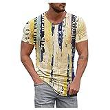 Camisetas para Hombre Crew Neck Casual Manga Corta Estampada Camiseta Moda Camisas Verano para Hombres Transpirable Estilo Deportivo Camiseta Viajes Vacaciones