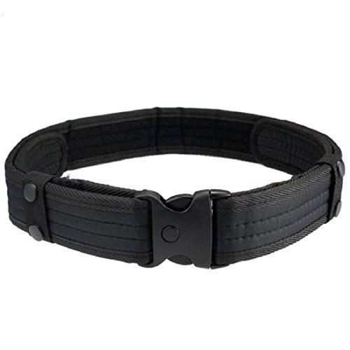 Vovotrade® Woodland Camo Cintura Tactical Caccia esterna Campo sportivo Cintura (Nero)