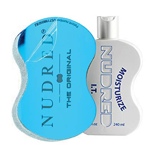 Moisturize I.T. SET   Daily Moisturizer with Mirror BLUE Hair Sponge for Men/Women   The Original NUDRED Natural Hair Care System