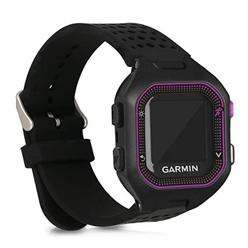 kwmobile Bracelet Compatible avec Garmin Forerunner 25 (L - 40 x 47 x 13.9 mm) - Bracelet de Rechange en Silicone pour Fitness Tracker Noir