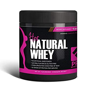 Protein Powder for Women - Her Natural Whey Protein Powder for Weight Loss & to Support Lean Muscle Mass - Low Carb - Gluten Free - rBGH Hormone Free