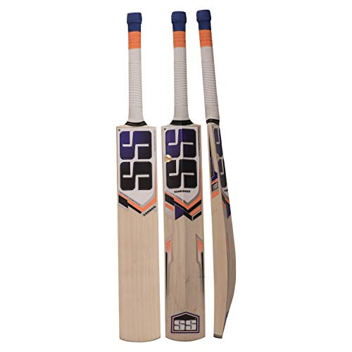 SS Cannon Kashmir Willow Tennis Ball Cricket Bat Exclusive Cricket Bat for Adult Full Size with Full Protection Cover Short Handel Latest 2019 Series