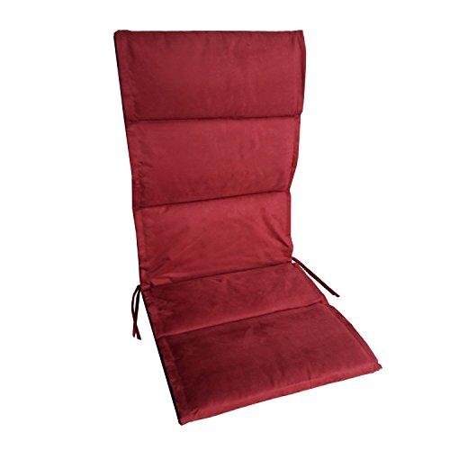 OF Auflagen für Hochlehner in Bordeaux, Rot - Sitzauflagen für Gartenstühle, Gartenmöbel
