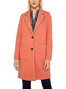 ESPRIT Damen 129Ee1G004 Mantel, Orange (Burnt Orange 815), Medium (Herstellergröße: M)