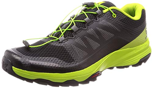 Salomon Herren XA DISCOVERY, Trailrunning-Schuhe, Schwarz (Black/Lime Green/Magnet), Größe 44 2/3