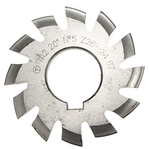 Professional Gear Milling Cutter, Module 2 Diameter 22mm 20 Degrees #1-8 Hss Involute Gear Milling Cutter Woodworking Accessories (Size : 7#)