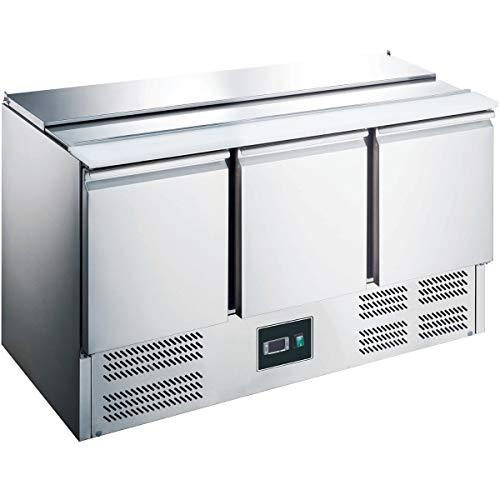 ZORRO - Saladette ZS903-3 Türen - Kühltisch mit Deckel - Salatkühlung - Gastro Kühltheke