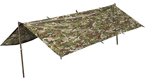 Army Waterproof Military Combat Basha Shelter Poncho Camo US & British Army Tent by Zip Zap Zooom