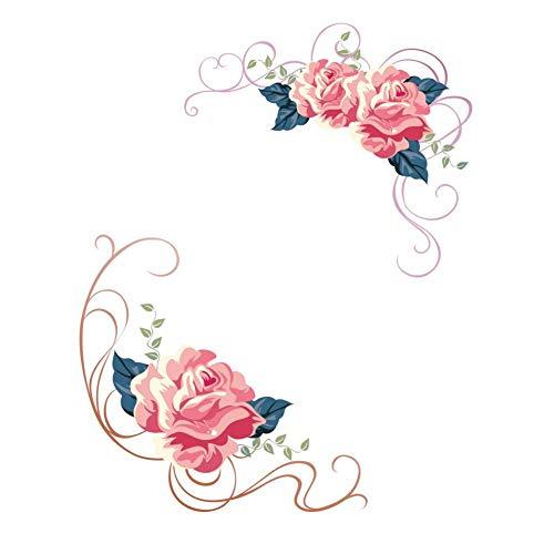 FOMBV Muursticker kleurrijke bloemen muur stickers mooie pioen koelkast stickers kast badkamer decoratiemuur stickerslijm
