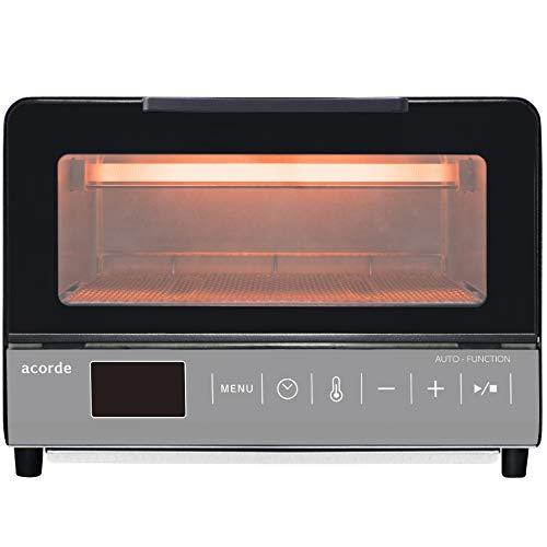 [山善] オーブントースター マイコン式 2枚焼き 自動調理メニュー搭載 acode (温度調節機能 (80℃~230℃) / タイマー機能 (1~59分) / オートオフ機能付き) チャコールグレー GTM-M100(CG) [メーカー保証1年]