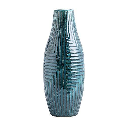 hjn Ceramic Vases, Vase Pottery Vase Handmade Cute Flower Vase for Home Décor (Medium Size: 13.7'' high)