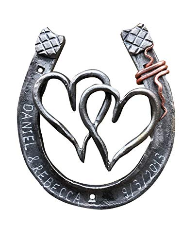 Iron horseshoes are special 6 year wedding anniversary gift ideas for him