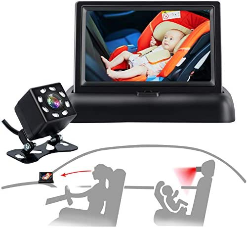 Baby Car Mirror Car Baby Camera Monitor Safety Car Seat Mirror Camera with 4 3 HD Wide Crystal product image