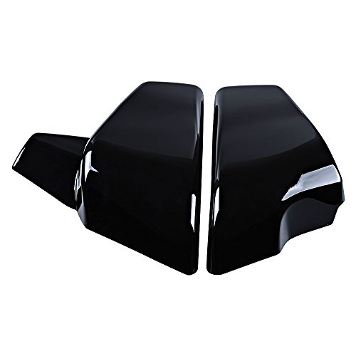 Price comparison product image Glossy Black Battery Side Cover Compatible with Honda Shadow 1999-2008 VLX 600 99-07 VT 600 C CD Deluxe (ABS,  2PCS)