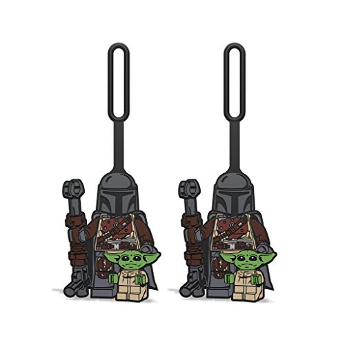 LEGO Star Wars The Mandalorian with The Child Silicone Bag Tag - 2 Count