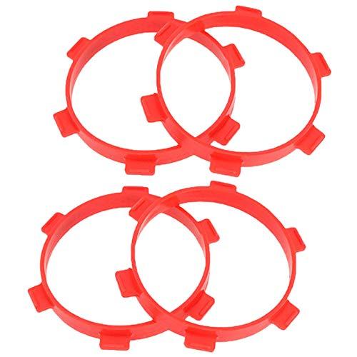 Noblik 4 Stuecke Gummi Reifen Montage Klebeb?Nder Durchmesser 85Mm für RC Teile 1/8 Buggy 1/10 Short Course Truck Zubeh?R Werkzeuge Rot