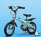 Triciclo Bebé Trolley Trike Bicicleta for niños convenientes, 3 años de hombres y mujeres Bebé Carro de bebé 12/14/16 pulgadas Bicicleta Bicicleta Montaña Niño Cómodo (Color: Azul, Tamaño: 14 pulgadas