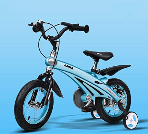 Triciclo Bebé Trolley Trike Bicicleta for niños convenientes, 3 años de hombres y mujeres bebé bebé carruaje 12/14/16 pulgadas bicicleta bicicleta bicicleta niño cómodo (color: azul, tamaño: 16 pulgad