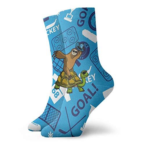 OUYouDeFangA - Calcetines cortos de algodón para practicar hockey sobre hielo, para...