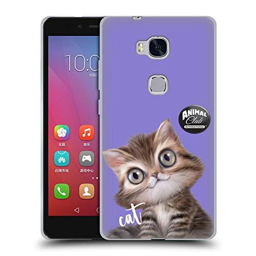 Head Hülle Designs Offizielle Animal Club International Persian Cat Gesichter Soft Gel Handyhülle Hülle Huelle kompatibel mit Huawei Honor 5X / GR5