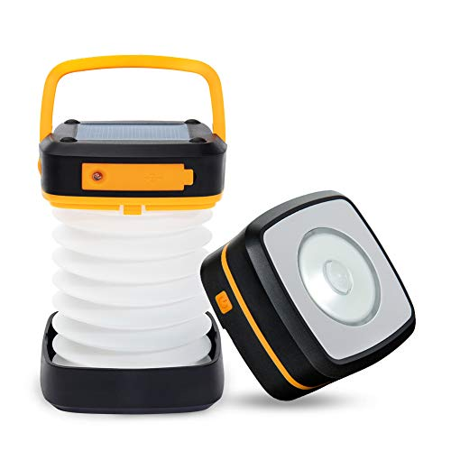 JTENG Campinglampe LED USB Wiederaufladbar Camping Laterne 2 in 1 Tragbare Zeltlampe Wasserdicht für Abenteuer,Angeln, Wandern, Garage,Notfall,Stromausfall