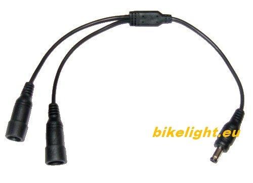 Y-Kabel (y-cable) für Magicshine.eu / MJ-808/816/836/818 bikelight.eu 900/1000/1300, passt auch für AGM, BikeRay, TrusFire, Ultrafire, ConsteFire, Boruit, WEWOM, Coorun, starnearby, Jolliwin, LHWY, OHQ, E-Fun, WEANT, MILKIRAY, BYBO, FIVEFIRE, LCLrute, ONEU, LED-Fire.com, u.a.