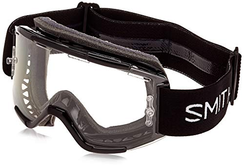 SMITH Unisex's SQUAD MTB Mountain Bike Goggles, Black-Clear Single, One Size