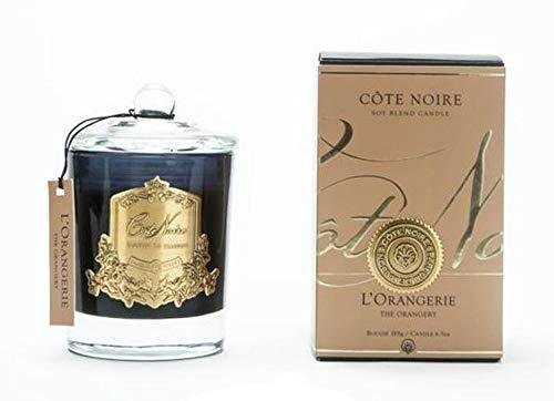 Cote Noire 185g L'Orangerie geurkaars in een zwarte glazen pot