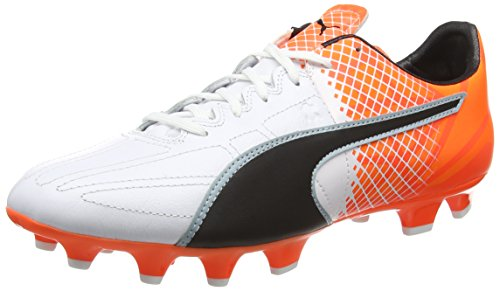 Junior niños zapatos Botas de fútbol cam blanco Puma evo Speed 5 FG Jr Rojo