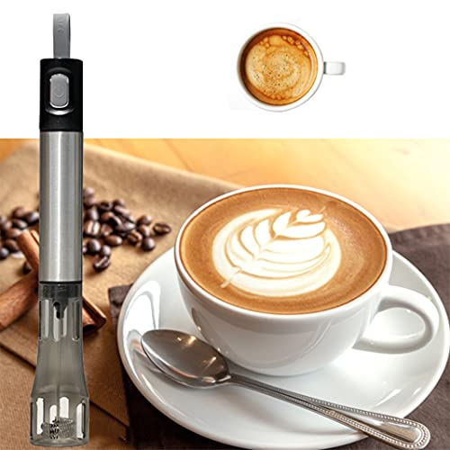 Elektrische melkopschuimer, roestvrij staal, dubbel mesh, handmatig, voor melk, koffie, latte, warme chocolade