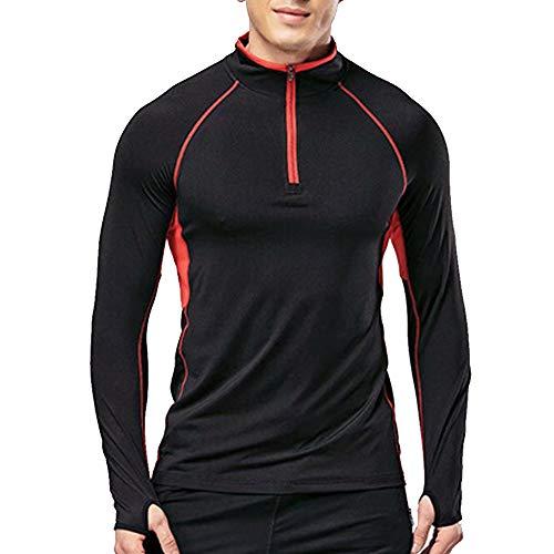 Musclealive Camiseta Manga Larga Cremallera Hombre